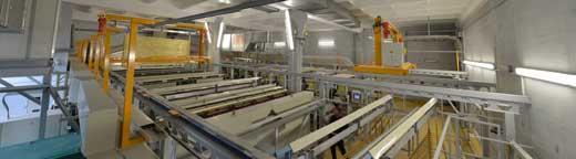 производственный участок по анодированию алюминиевых профилей